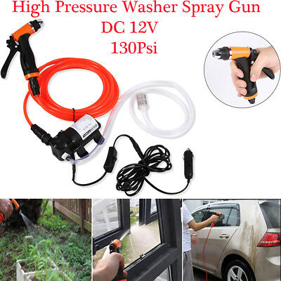 12V High Pressure Washer Wash 80W Water Pump Kit Deck Car Campervan Sprayer UK