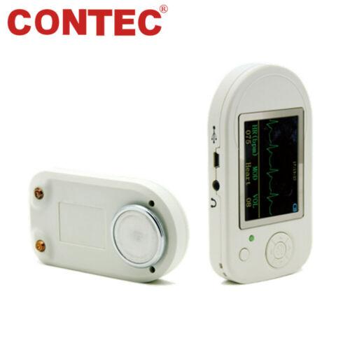 CE CMS-VESD CONTEC Visual Electronic Stethoscope + SpO2 Probe Heart rate Alarm