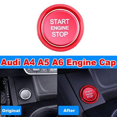 For Audi A4 A5 A6 Q5 S4 Red Start Stop Engine Button Cap Repair Cover Trim