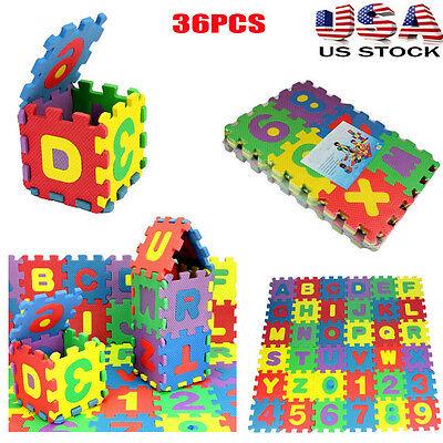 Number Puzzle Set - 36Pcs Set Baby Child Number Alphabet Puzzle Foam Maths Educational Toy