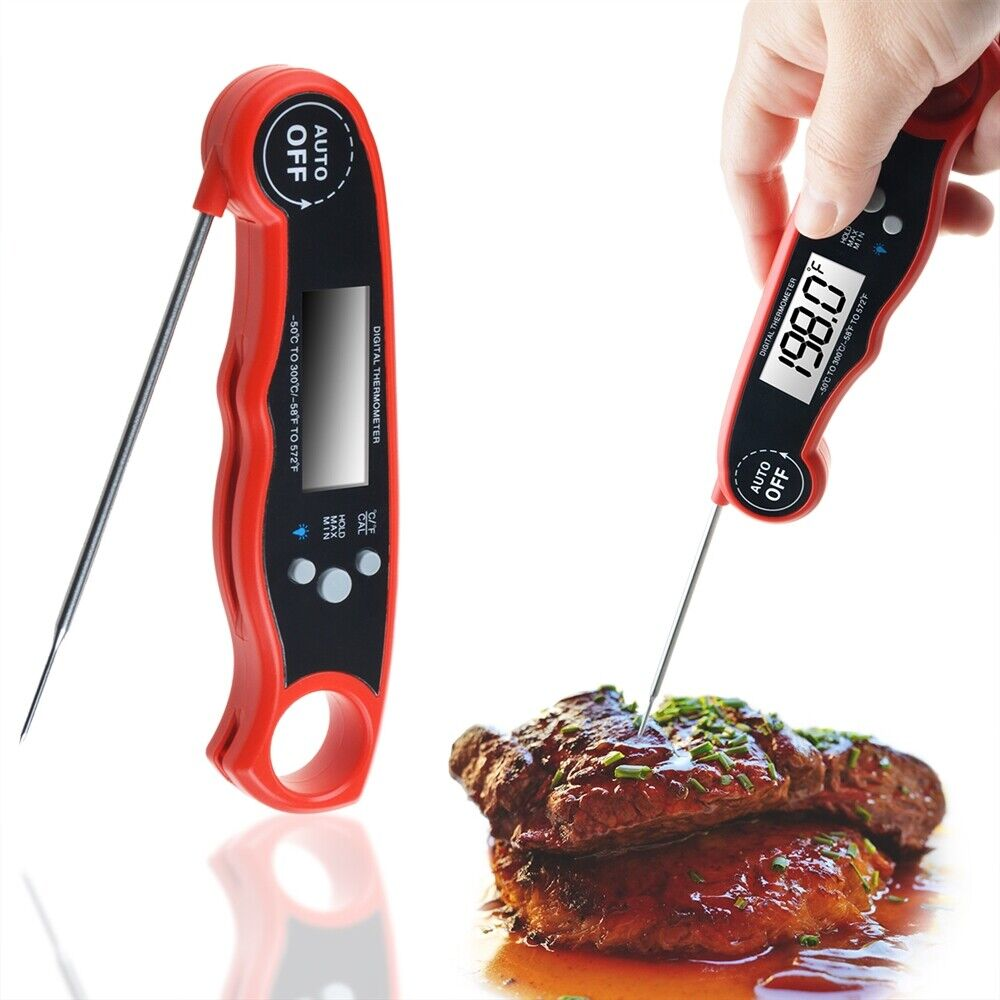 instant read digital meat thermometer bbq grill