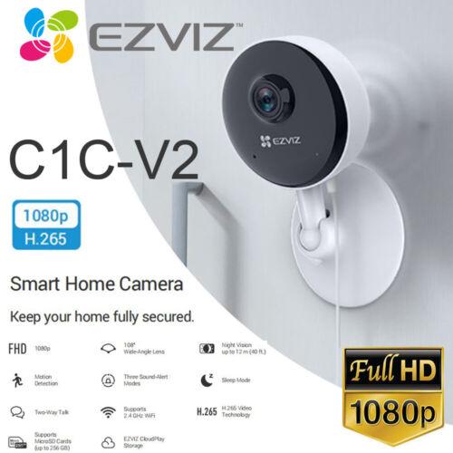 EZVIZ Security Camera WIFI 1080P Smart APP Night Vision 2-Way Audio C1C-V2