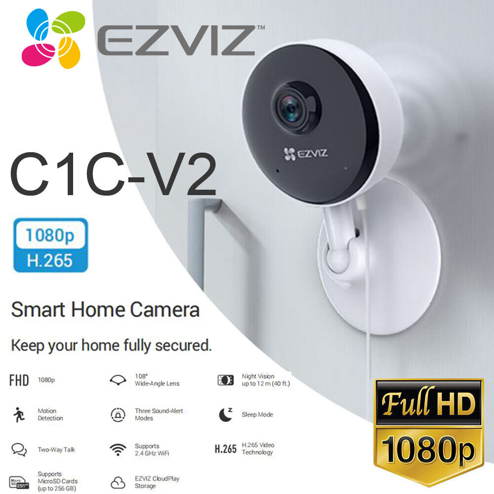 EZVIZ Security Camera WIFI 1080P Smart APP Night Vision 2Way Audio C1CV2