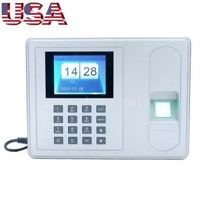 2.4 Biometric Fingerprint Password Attendance System Check-in Time Clock Reader