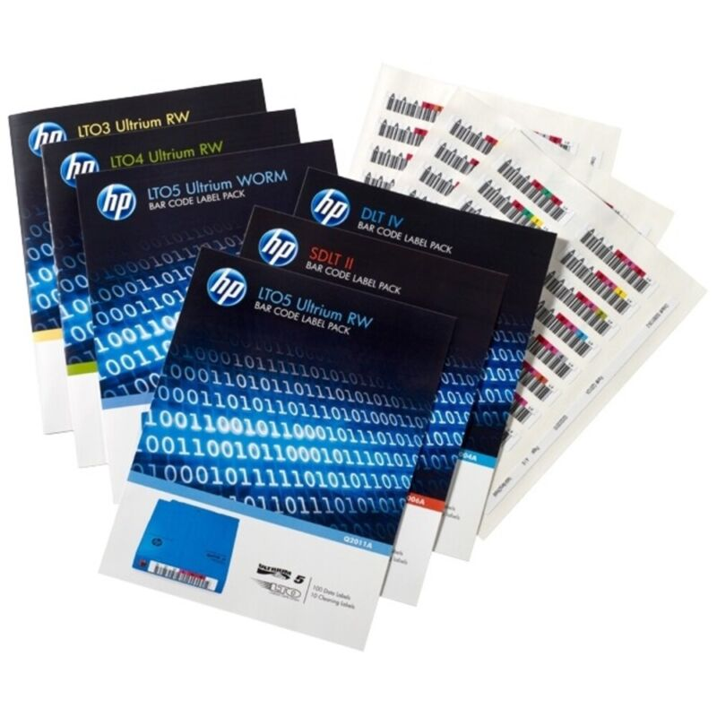 Hewlett Packard Enterprise Q2014A Hp Bar Code Labels Ultrium-7 7A Uniquely