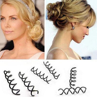 10pcs Hair Styling Spiral Spin Screw Bobby Pin Hair Clip Twist Barrette Black