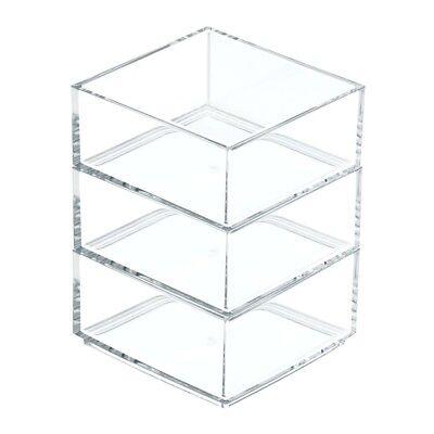 "Interdesign 40950 Clarity Cosmetic Organizer 4"" X 4"" X 2""- Clear"