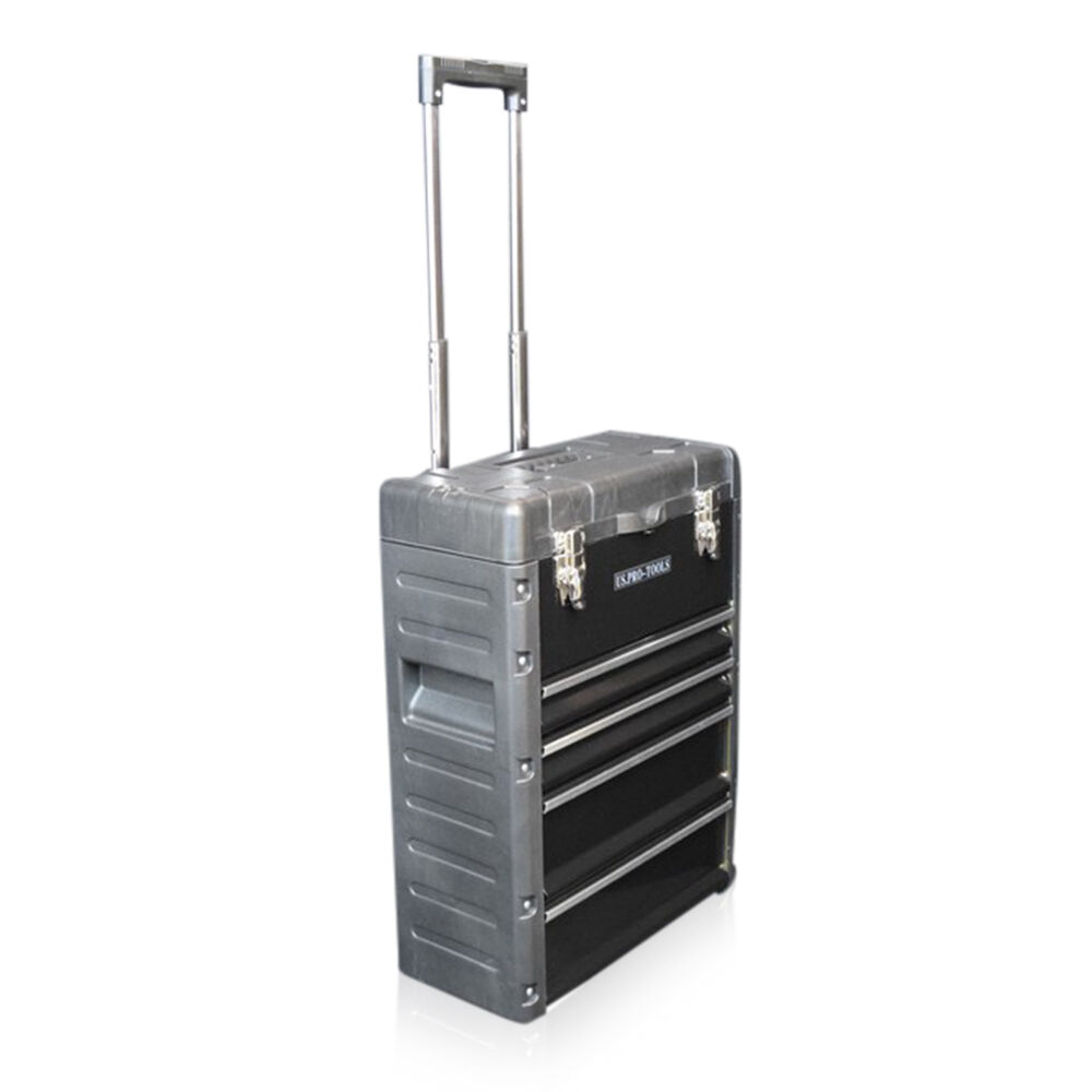 320 Us Pro Tools Black Mobile Roller Chest Trolley Cart