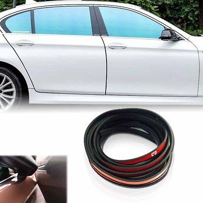 4.5M Car Side Door Edge Guard Black PVC Rubber Bumper Protection Sticker Strip