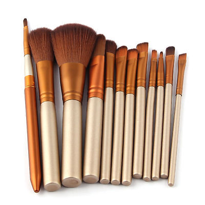 New 12pcs Makeup Cosmetic Eyeshadow Powder Foundation Lip Brush Tool Brushes Set