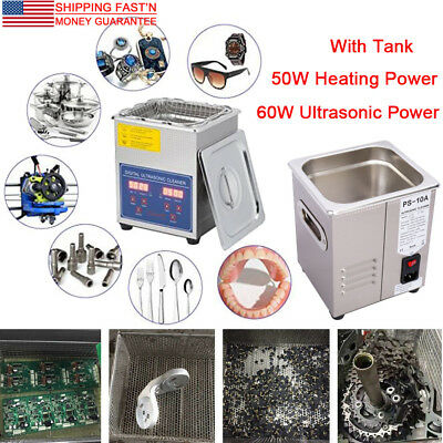 Stainless Steel 2l Digital Industrial Heated Ultrasonic Cleaner W. Tank Timer