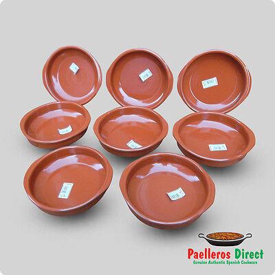 Set of 8 x 20cm Spanish Terracotta Tapas Dishes / Cazuelas