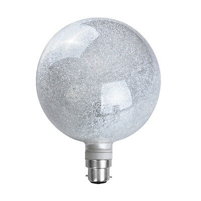 Large 3W LED Designer Style Glitter Sparkle Globe Bulb Daylight Light BC B22 NEW