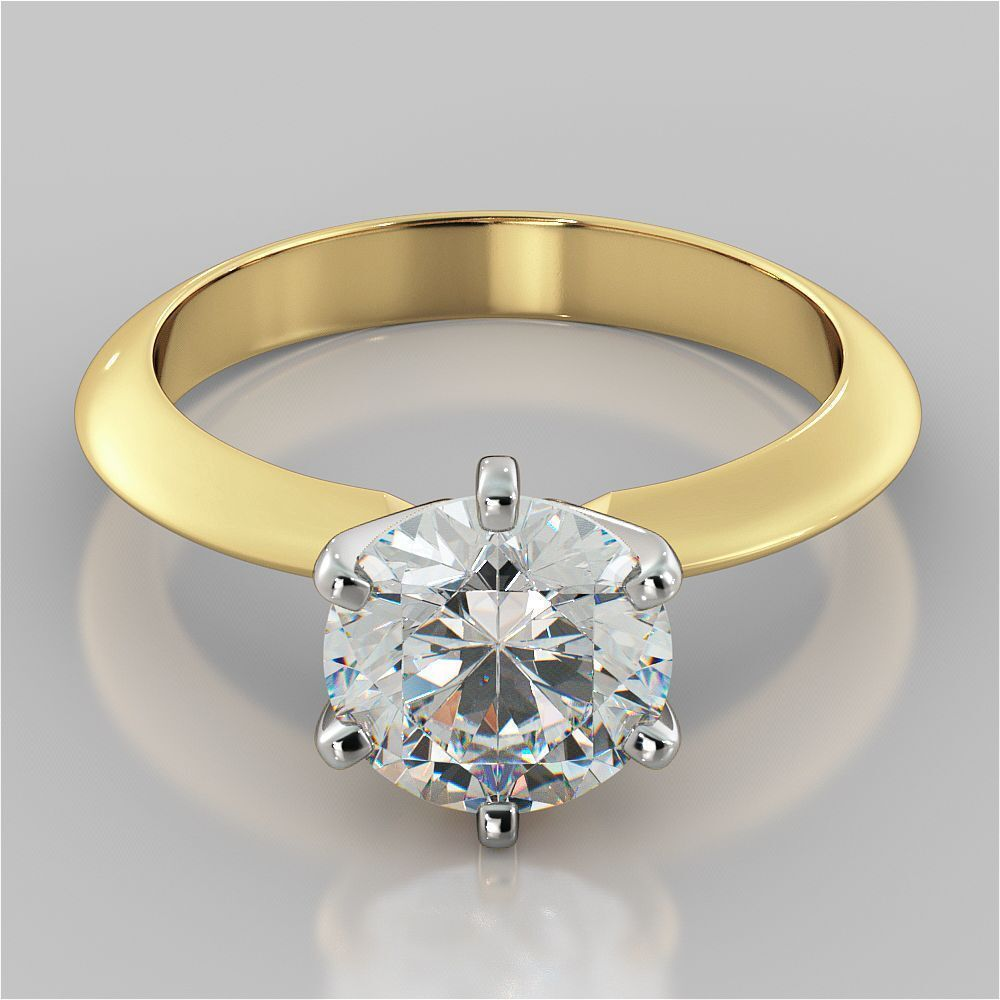 GIA Certified 0.75 Cts Natural Diamond Solitaire Ring In Solid Hallmark 14K Gold