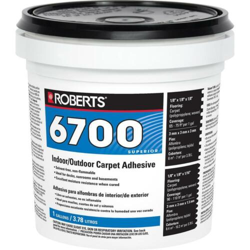 Marine Carpet GLUE Adhesive RV / Outdoor - ONE Gallon Roberts 6700 Water Based