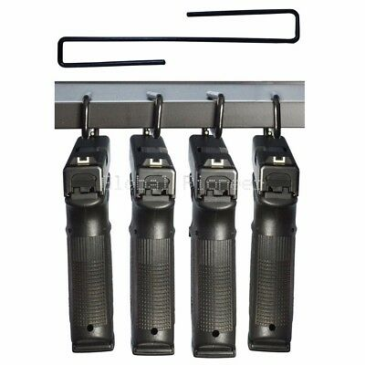 4 Pack Ultimate Gun Safe Pistol Hanger Storage Hook Rack Holder Organizer
