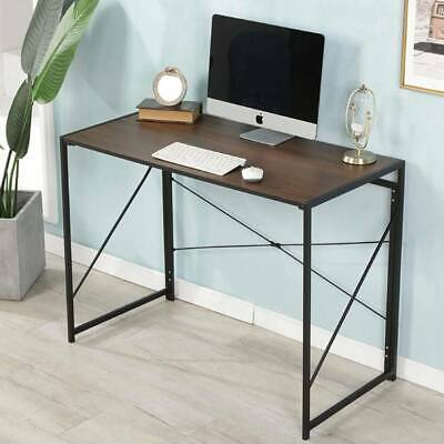Folding Study Coffee Table Foldable Computer Desk Wooden Laptop Office Classroom