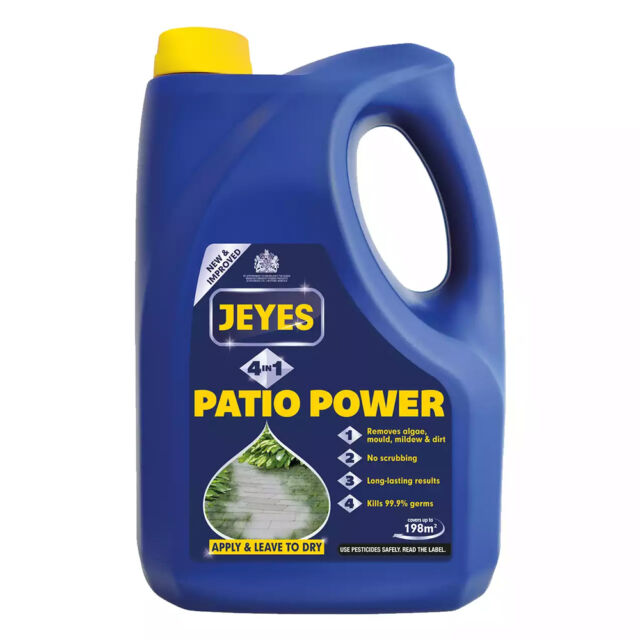 JEYES FLUID 2L PATIO POWER 4 IN 1 CLEANER DISINFECTANT CONCRETE BRICK STONE