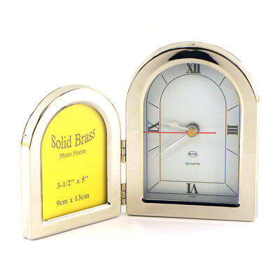 Milan Metal Clock - Solid Brass Milano II Double Frame Clock YPS56345DC
