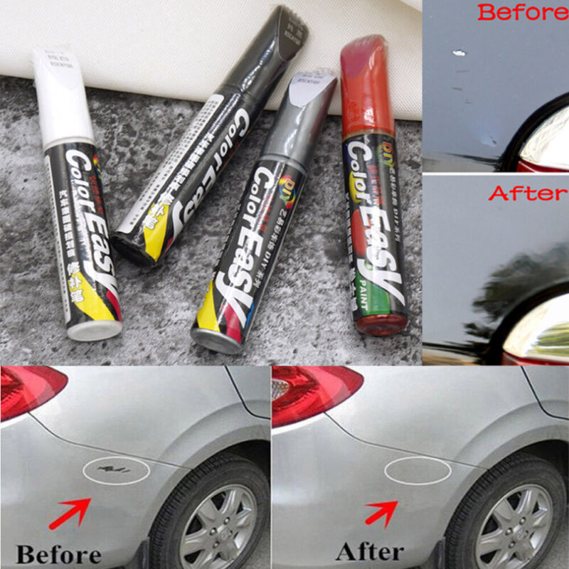 Details about 12ml Paint Repair Pen Scratch Remover Touch Up Clear Coat  Applicator Fix Tool