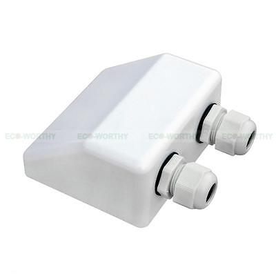 ABS Solar Panel Double Cable Entry Gland Connector Waterproof For RV Camping