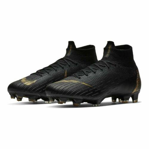 Nike Mercurial Superfly 6 Elite FG Black Vivid Gold CleatsAH7365-077