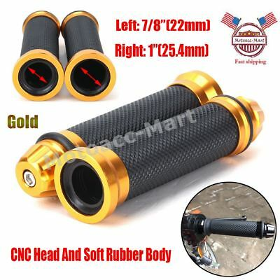 "7/8"" 22mm Motorcycle Hand Grips Handlebar End CNC Rubber For KTM Honda Yamaha"