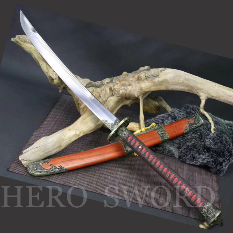 Battle Ready Broadswords T1095 High Carbon Steel Chinese sword Zhan Ma Dao Sharp