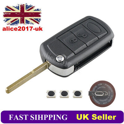 3 Button Key Fob Case For Land Rover Discovery Range Rover Sport +VL2330 Battery