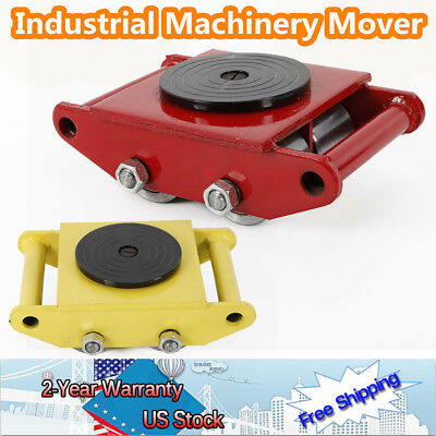 Heavy Machine Dolly Skate Roller Machinery Mover With 360 Degree Rotation Cap