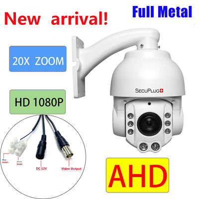 AHD 20X ZOOM 1080P  2.0MP SONY CMOS Pan Tilt  PTZ Camera CCTV Security Outdoor Cmos-pan