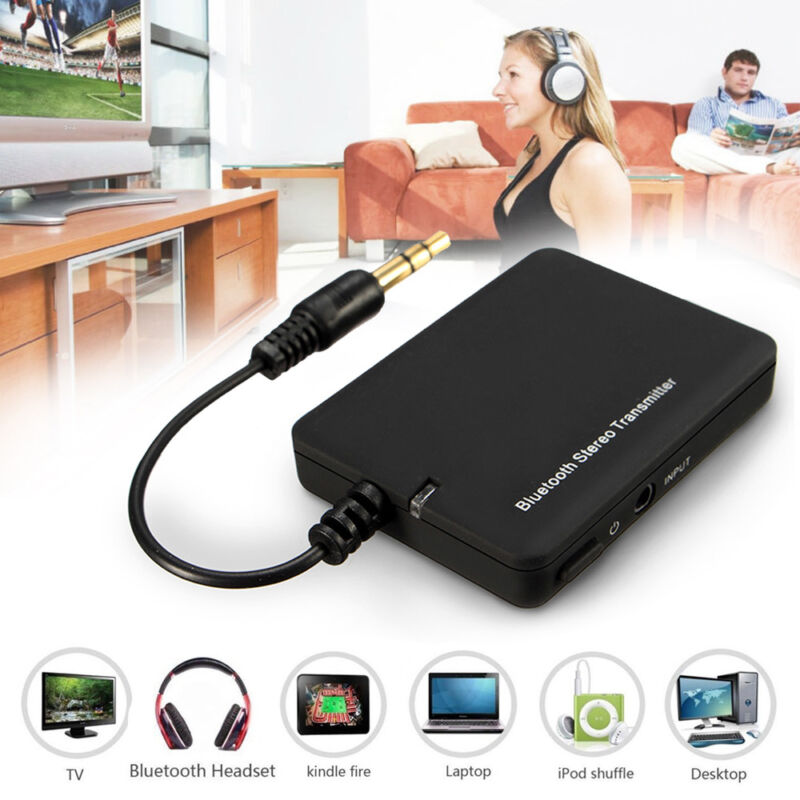 Bluetooth Sender Audio USB 3.5mm Transmitter Adapter Für TV PC Handy Kopfhörer