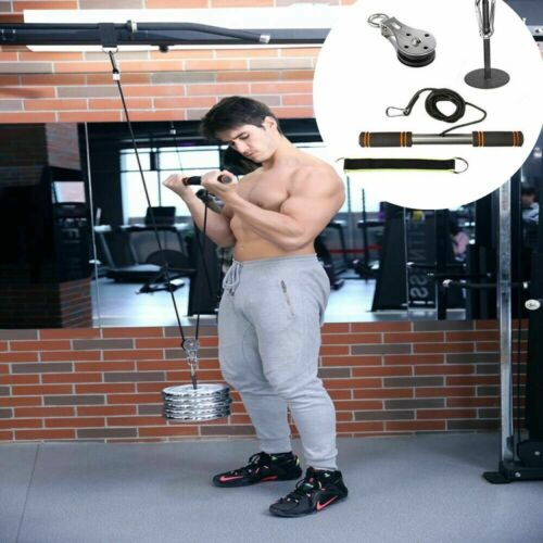 Fitness Pulley Cable Gym Workout Equipment Machine System Ho