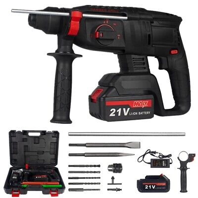 38cordless Rotary Hammer Drill Sds-plus 1200w Electric Power W Battery Bits