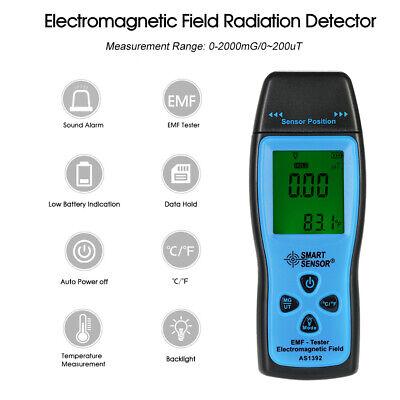 Smart Sensor Digital Emf Tester Electromagnetic Field Radiation Detector B1i6