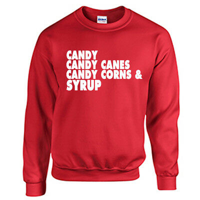 Candy Candy Canes Sweatshirt Christmas Holiday Sweater Elf Movie Will Ferrell