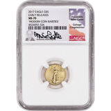 2017 American Gold Eagle (1/10 oz) $5 - NGC MS70 Early Releases - Castle Signed