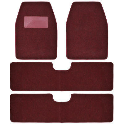 Bdkusa 3 Row Best Quality Carpet Floor Mats For Suv Van   4 Pieces   Burgundy