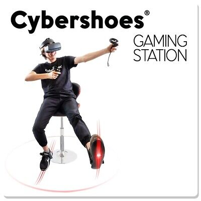 Cybershoes Gaming VR Station with red chair and carpet