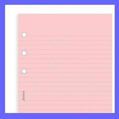 Filofax Pocket Size Pink Ruled Notepaper Insert Refill 213007