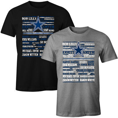 Dallas Cowboys All Time Greatest Players Names T  Shirt