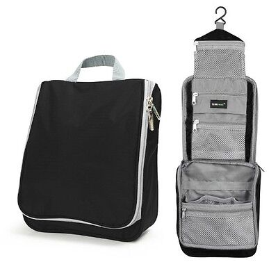 Compact Travel Hanging Toiletry Bag Personal Cosmetics Organizer for Men & Women