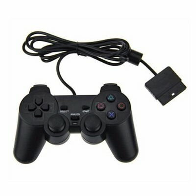 New BLACK Twin Vibration Controller for Sony PlayStation or PS2