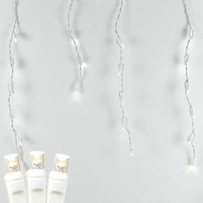 - Christmas LED Icicle Light Set, Warm White, White Wire, 7.5' Long, 70 Light