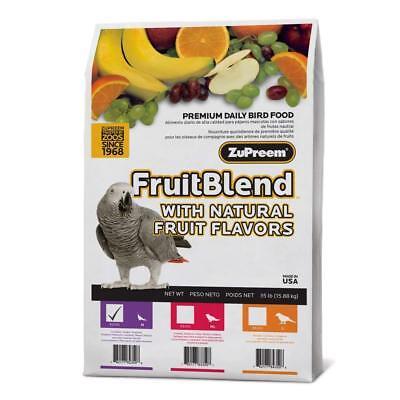 ZuPreem FruitBlend MEDIUM PARROT Food Pellets 35 Pounds Fruit Blend Parrot Bird