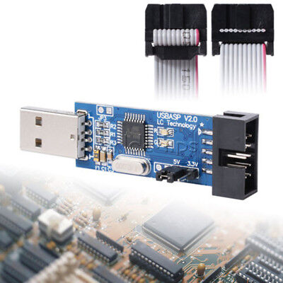 10 Pin Convert To 6 Pin Adapter Boardusbasp Usbisp Avrisp Stk500 Programmer Usb