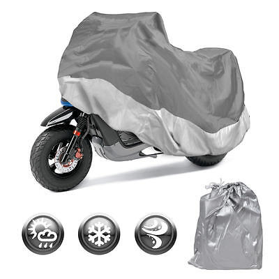 Motorcycle Cover Waterproof Outdoor Motorbike All Weather Protection (S)