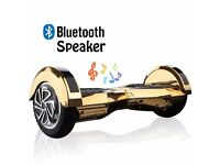HOVERBOARD new sealed in box, bluetooth, gold & chrome, free carry case, remote control, UK CE