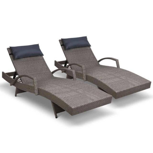 Purchase Now! Gardeon Sun Lounge Outdoor Furniture Wicker ...
