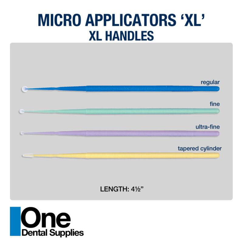 Dental Disposable Micro Brushes Applicators XL  Assorted Size 800 pcs